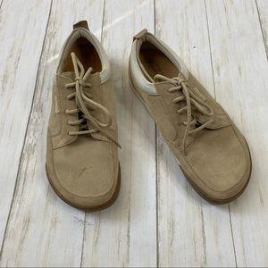 Footprints By Birkenstock Tan Suede Lace Up Shoes